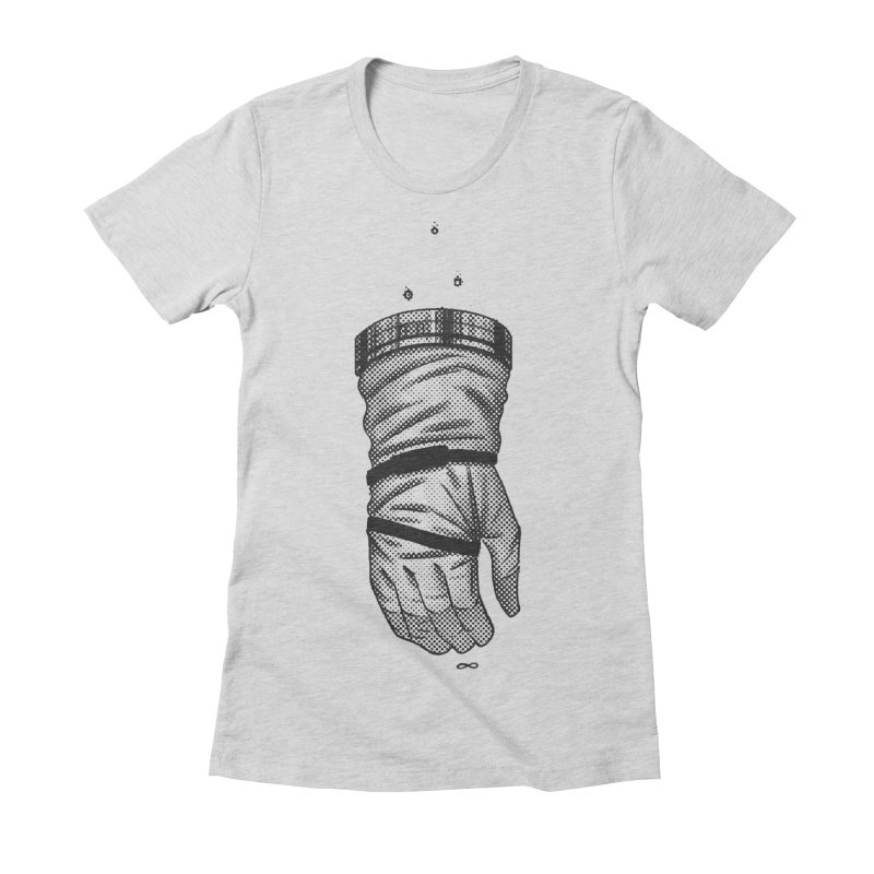 Infinity Glove Women's Fitted T-Shirt by Chuck Pavoni