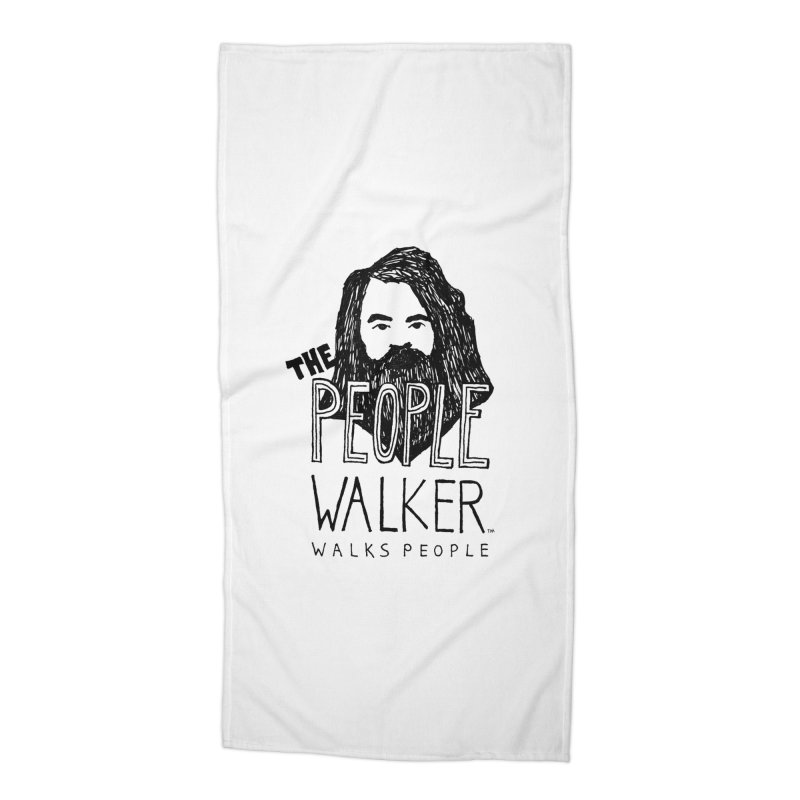 The People Walker™ Accessories Beach Towel by Chuck McCarthy's Artist Shop