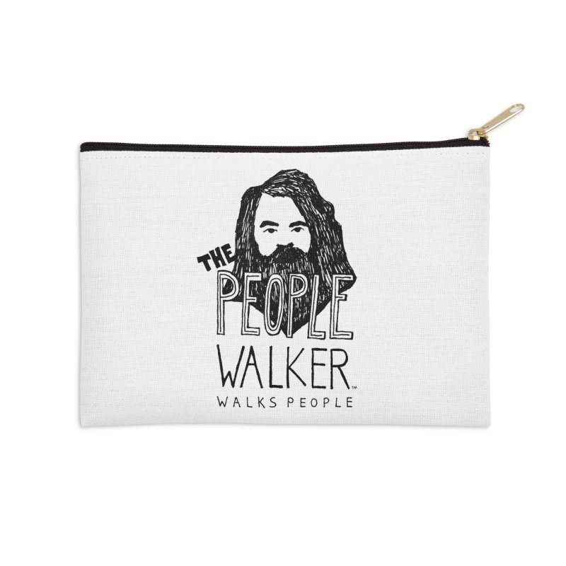 The People Walker™ Accessories Zip Pouch by Chuck McCarthy's Artist Shop