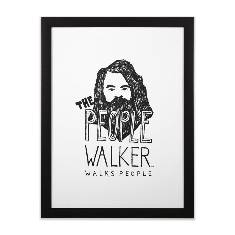 The People Walker™ Home Framed Fine Art Print by Chuck McCarthy's Artist Shop