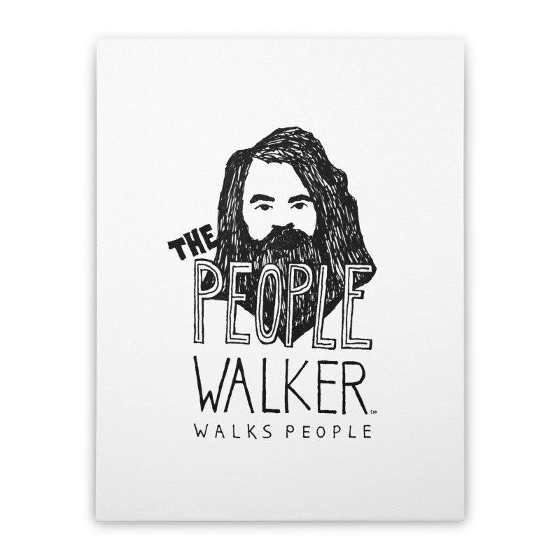 The People Walker™ Home Stretched Canvas by Chuck McCarthy's Artist Shop