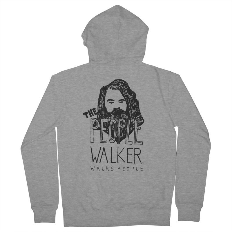 The People Walker™ Women's French Terry Zip-Up Hoody by Chuck McCarthy's Artist Shop