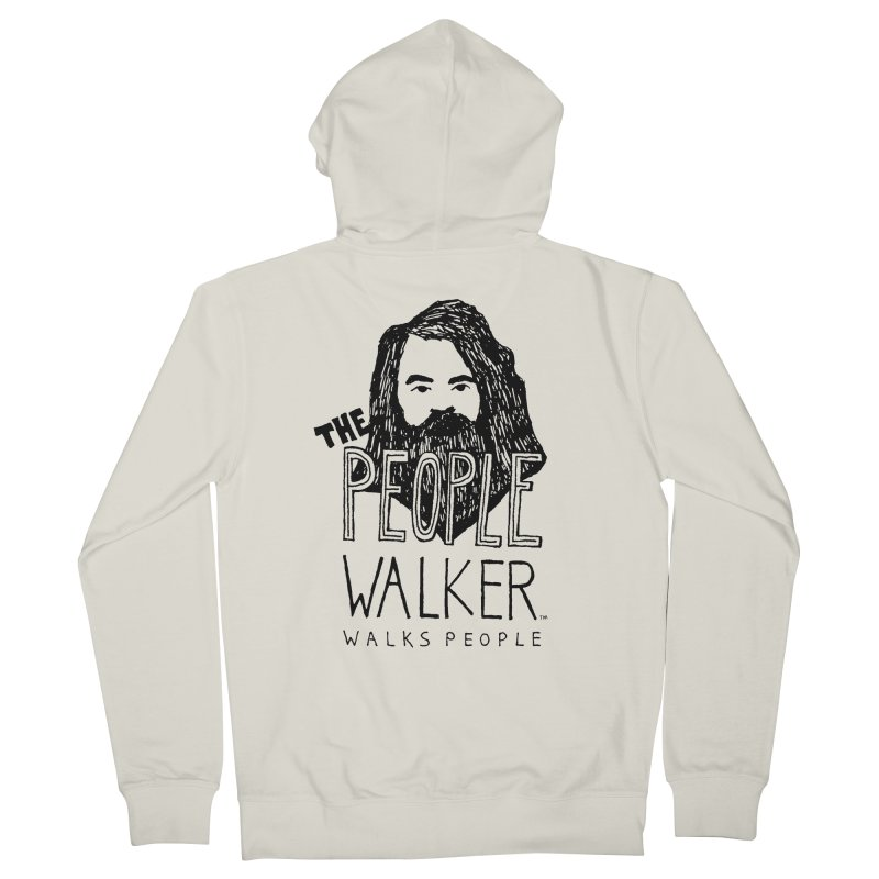 The People Walker™ Men's Zip-Up Hoody by Chuck McCarthy's Artist Shop