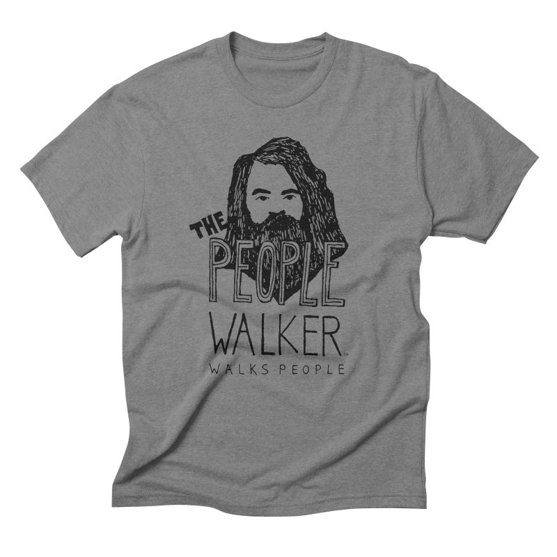 The People Walker™ Men's Triblend T-Shirt by Chuck McCarthy's Artist Shop