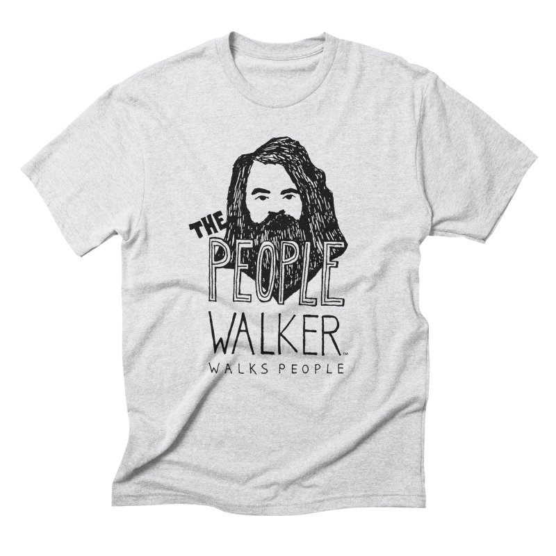 The People Walker™ Men's Triblend T-Shirt by Chuck McCarthy's Artist Shop