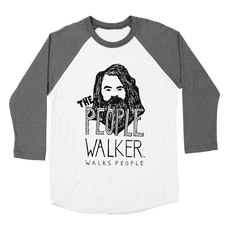 The People Walker™ Women's Baseball Triblend T-Shirt by Chuck McCarthy's Artist Shop