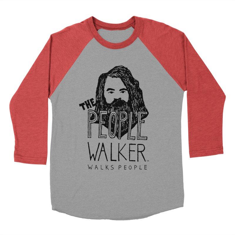 The People Walker™ Men's Baseball Triblend T-Shirt by Chuck McCarthy's Artist Shop