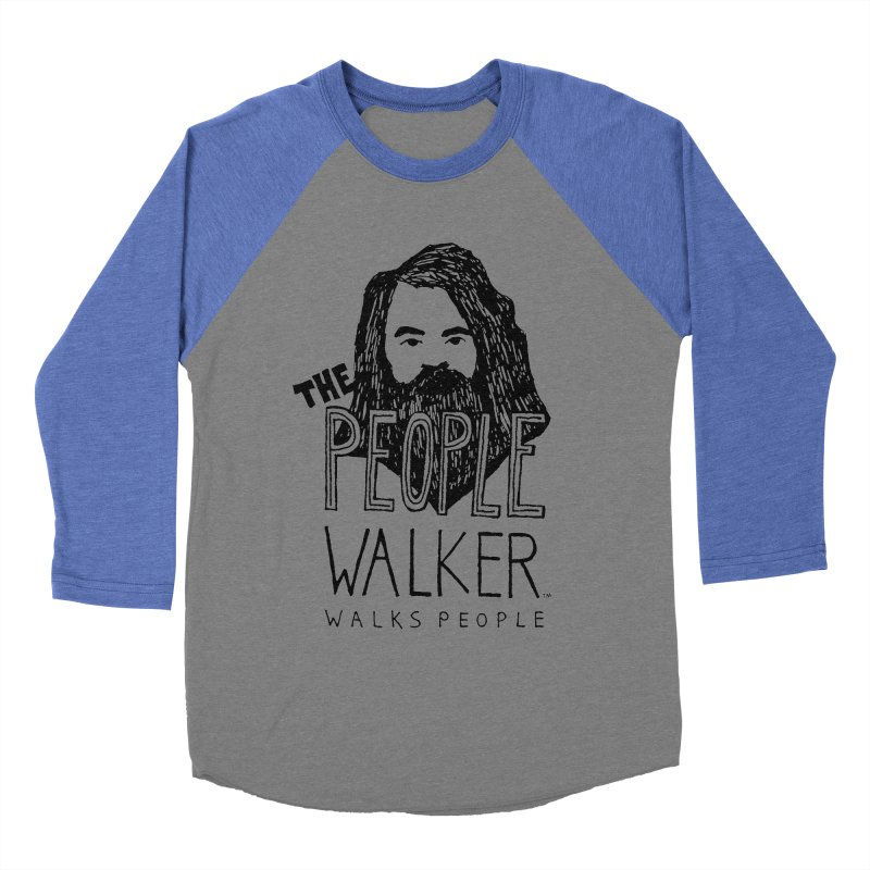The People Walker™ Men's Baseball Triblend Longsleeve T-Shirt by Chuck McCarthy's Artist Shop