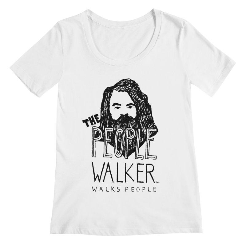 The People Walker™ Women's Regular Scoop Neck by Chuck McCarthy's Artist Shop