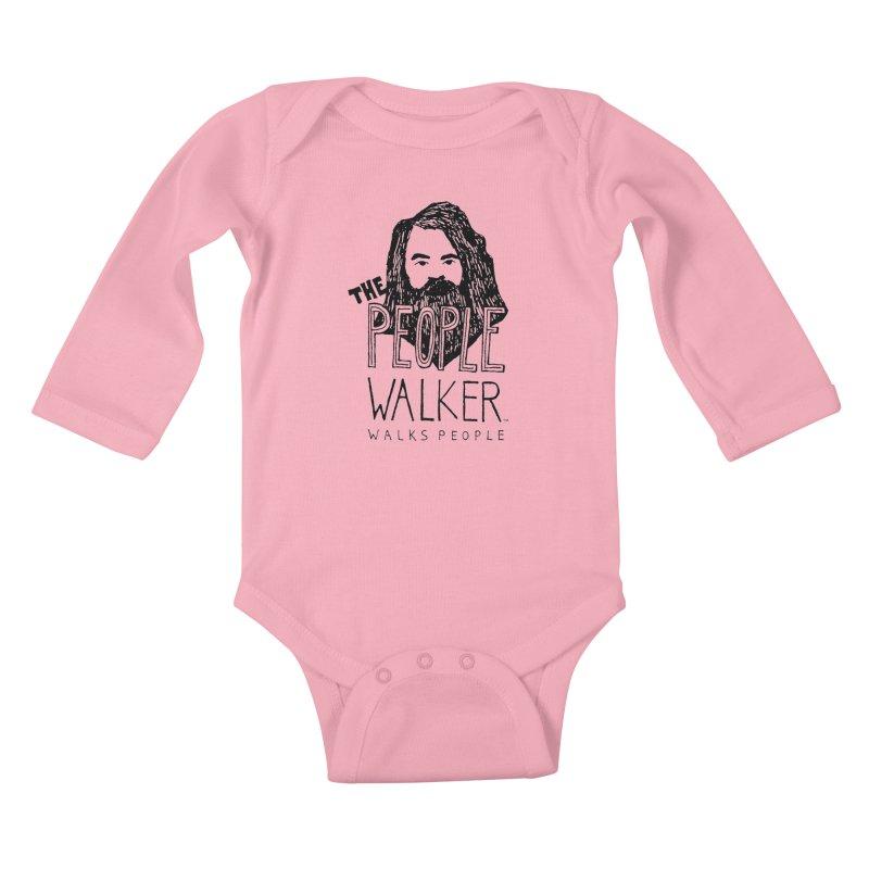 The People Walker™ Kids Baby Longsleeve Bodysuit by Chuck McCarthy's Artist Shop