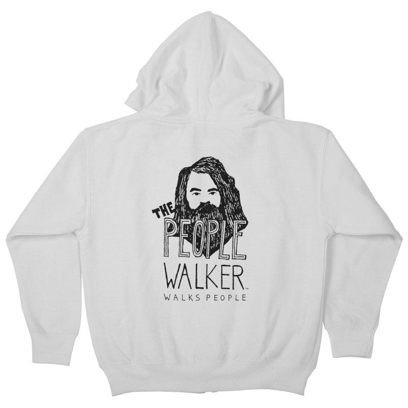 The People Walker™ Kids Zip-Up Hoody by Chuck McCarthy's Artist Shop