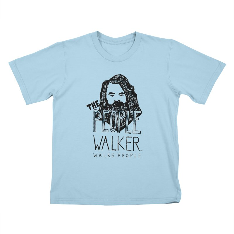 The People Walker™ Kids T-Shirt by Chuck McCarthy's Artist Shop