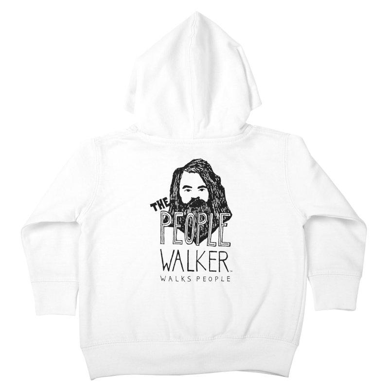 The People Walker™ Kids Toddler Zip-Up Hoody by Chuck McCarthy's Artist Shop