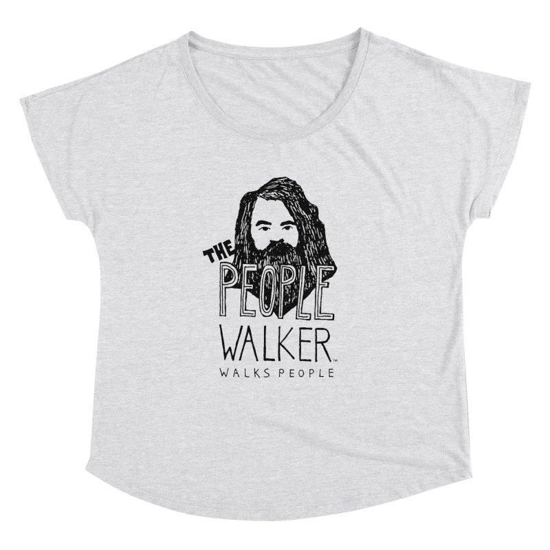 The People Walker™ Women's Dolman Scoop Neck by Chuck McCarthy's Artist Shop
