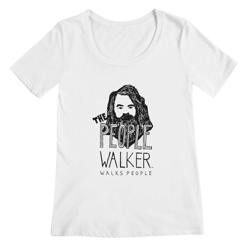 The People Walker™ Women's Scoopneck by Chuck McCarthy's Artist Shop