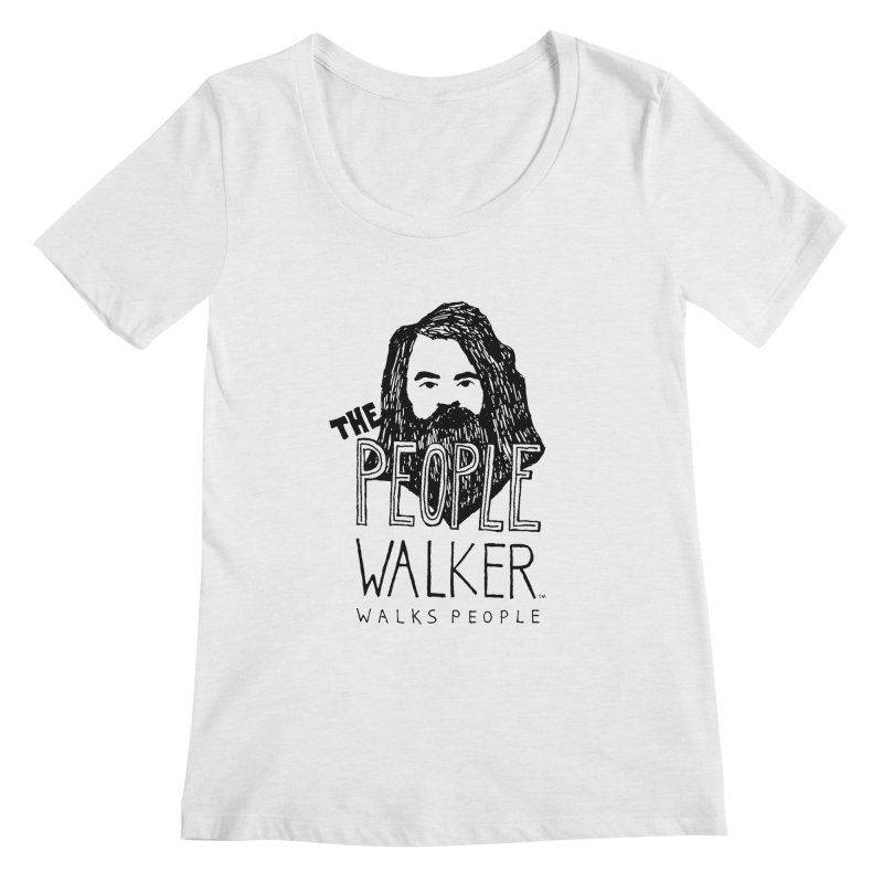 The People Walker™ Women's Regular Scoop Neck by Chuck McCarthy's Artist Shop