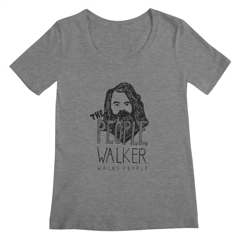 The People Walker™ Women's Scoop Neck by Chuck McCarthy's Artist Shop