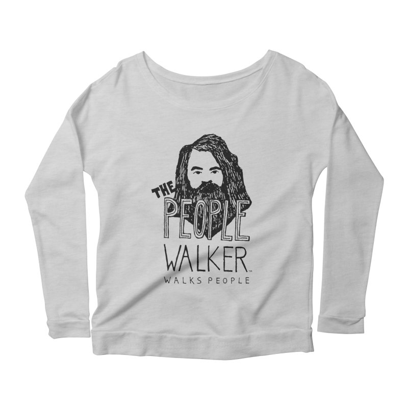 The People Walker™ Women's Longsleeve Scoopneck  by Chuck McCarthy's Artist Shop