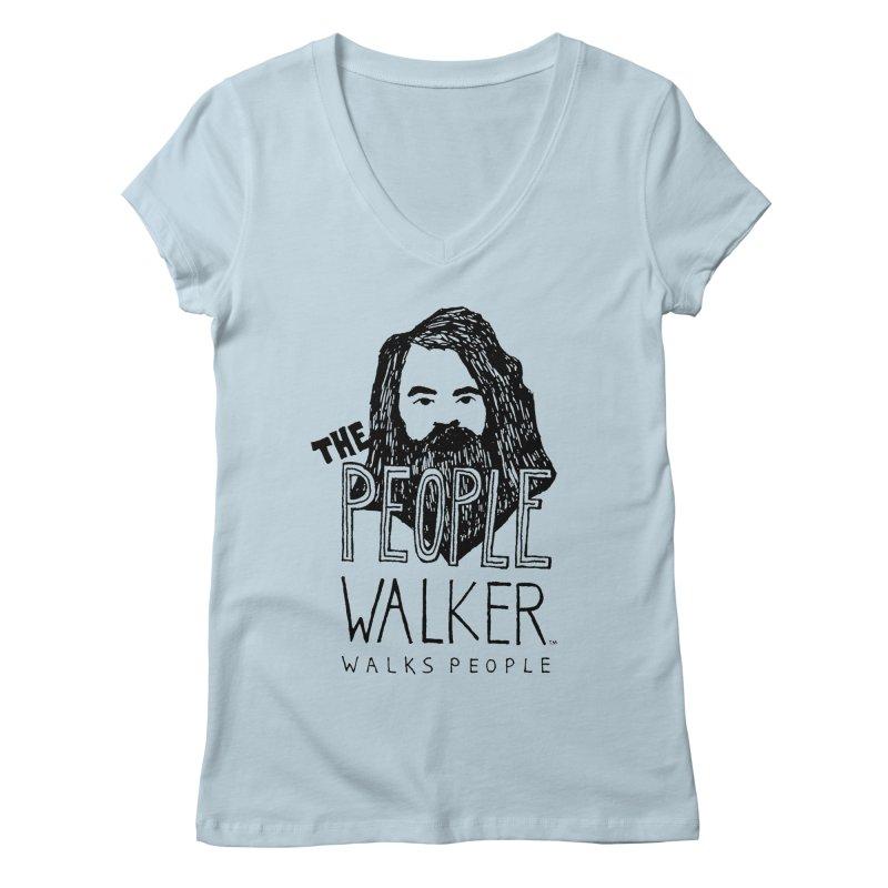 The People Walker™ Women's V-Neck by Chuck McCarthy's Artist Shop