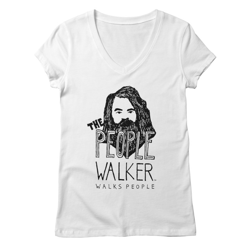 The People Walker™ Women's V-Neck by Chuck McCarthy's Artist Shop