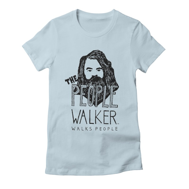 The People Walker™ Women's Fitted T-Shirt by Chuck McCarthy's Artist Shop