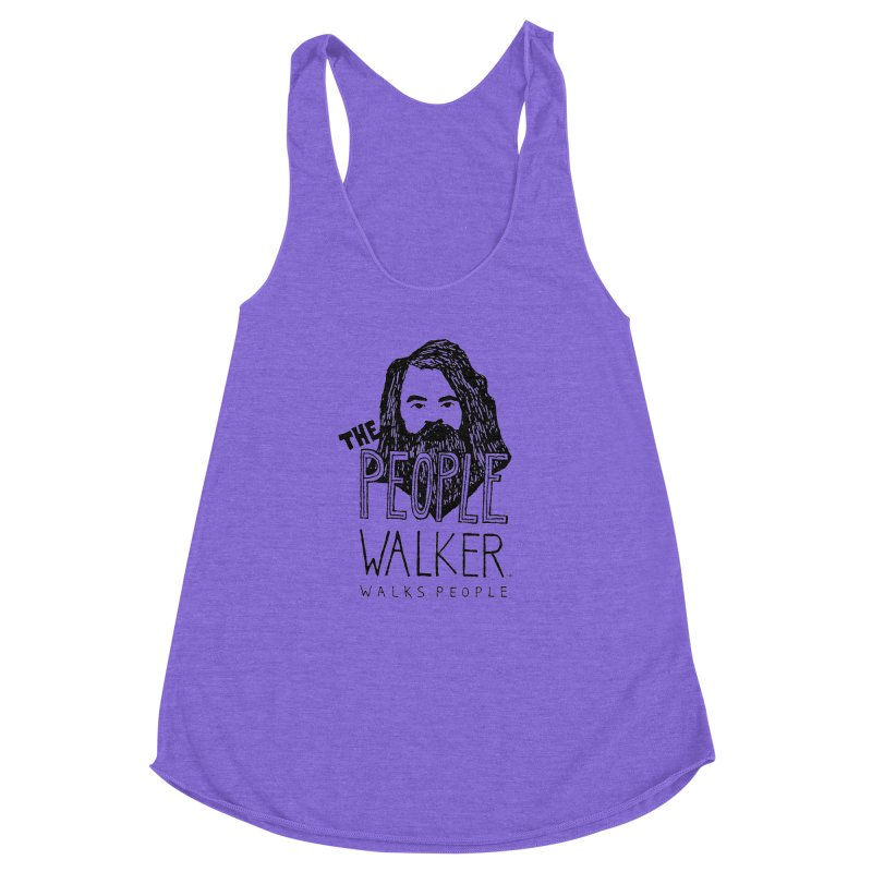 The People Walker™ Women's Racerback Triblend Tank by Chuck McCarthy's Artist Shop