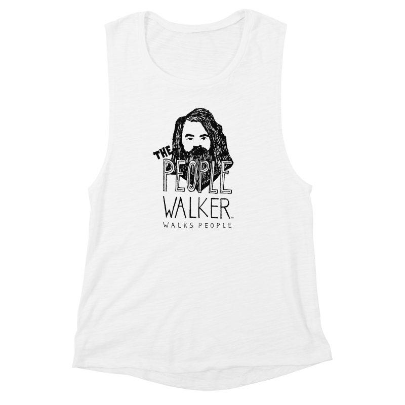 The People Walker™ Women's Muscle Tank by Chuck McCarthy's Artist Shop