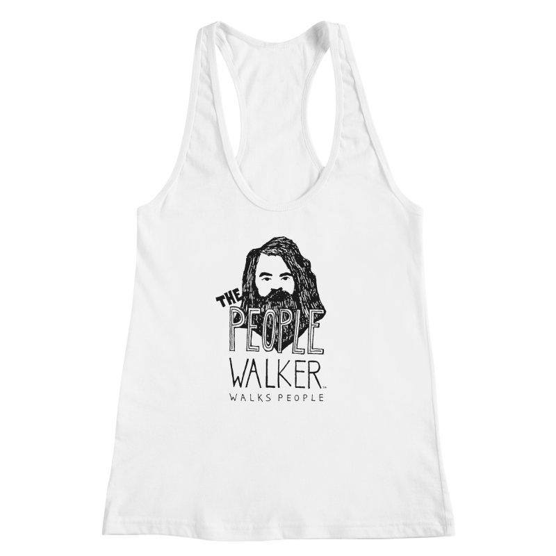 The People Walker™ Women's Racerback Tank by Chuck McCarthy's Artist Shop