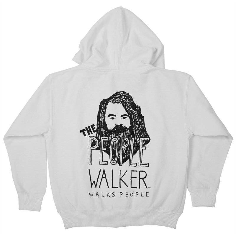 The People Walker™ Kids Zip-Up Hoody by Chuck McCarthy's Artist Shop
