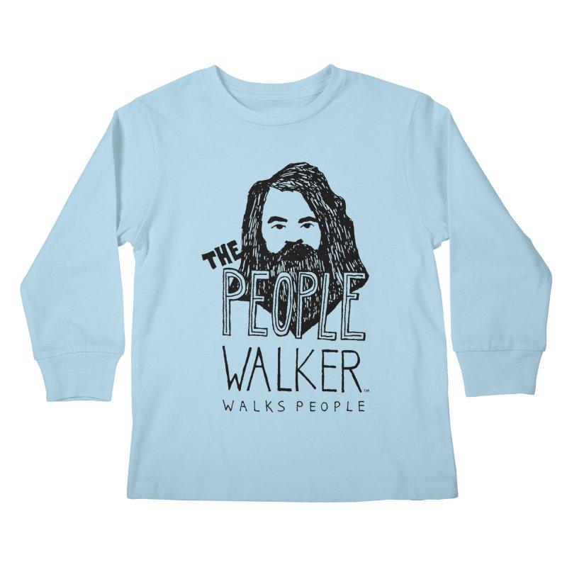 The People Walker™ Kids Longsleeve T-Shirt by Chuck McCarthy's Artist Shop