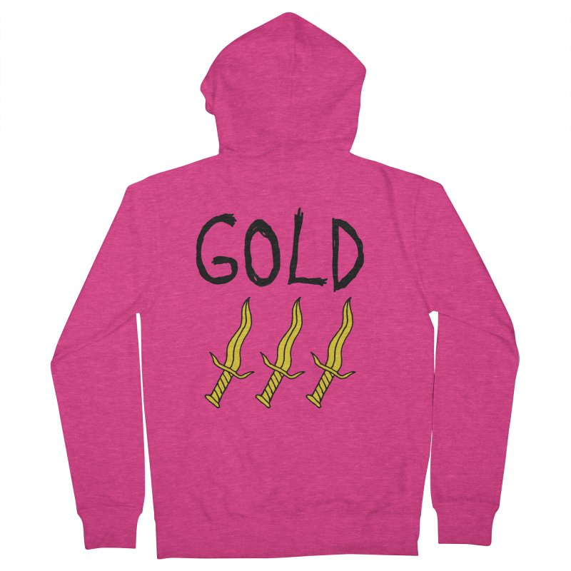Gold Daggers Women's Zip-Up Hoody by Chuck McCarthy's Artist Shop