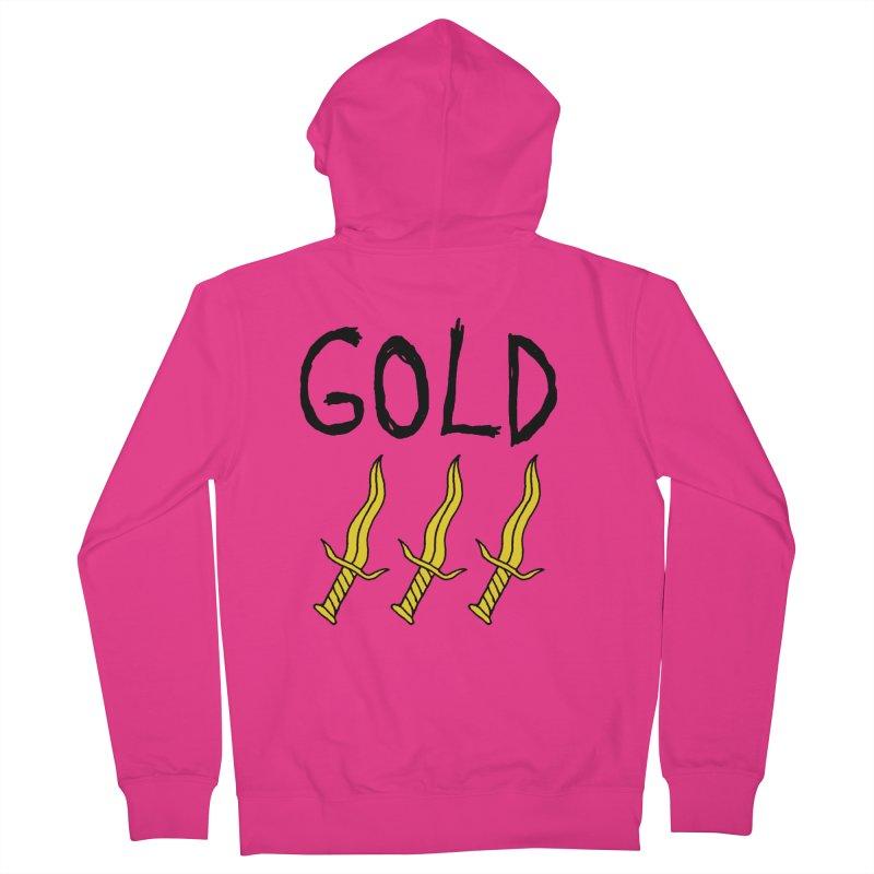 Gold Daggers Men's Zip-Up Hoody by Chuck McCarthy's Artist Shop