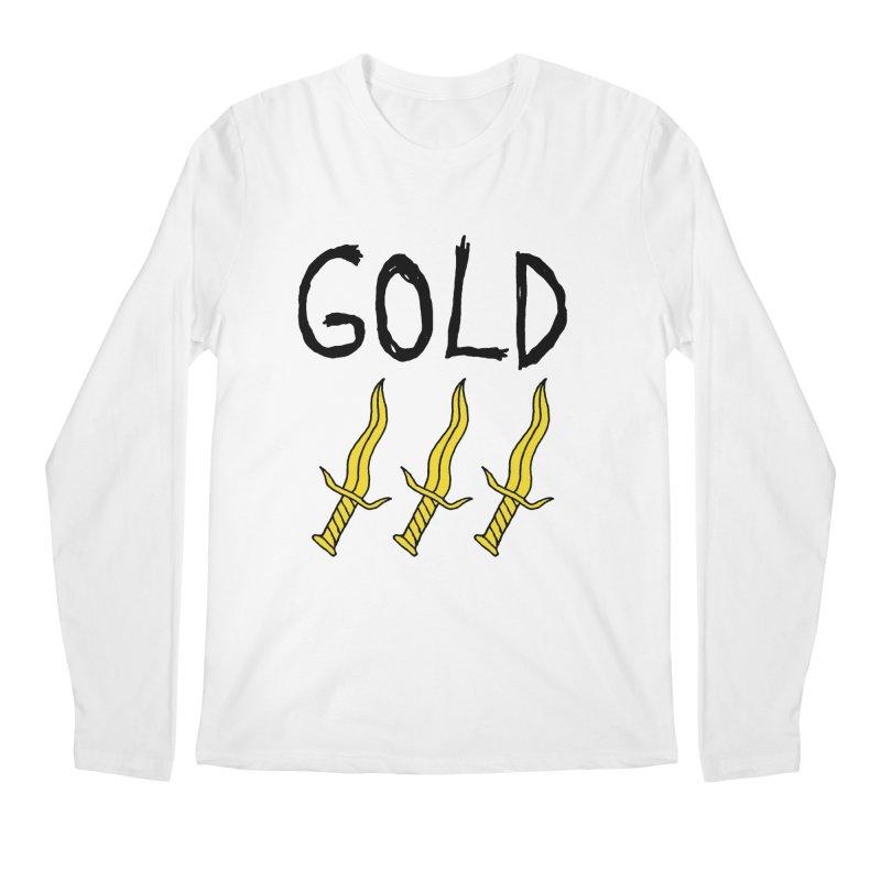 Gold Daggers Men's Longsleeve T-Shirt by Chuck McCarthy's Artist Shop