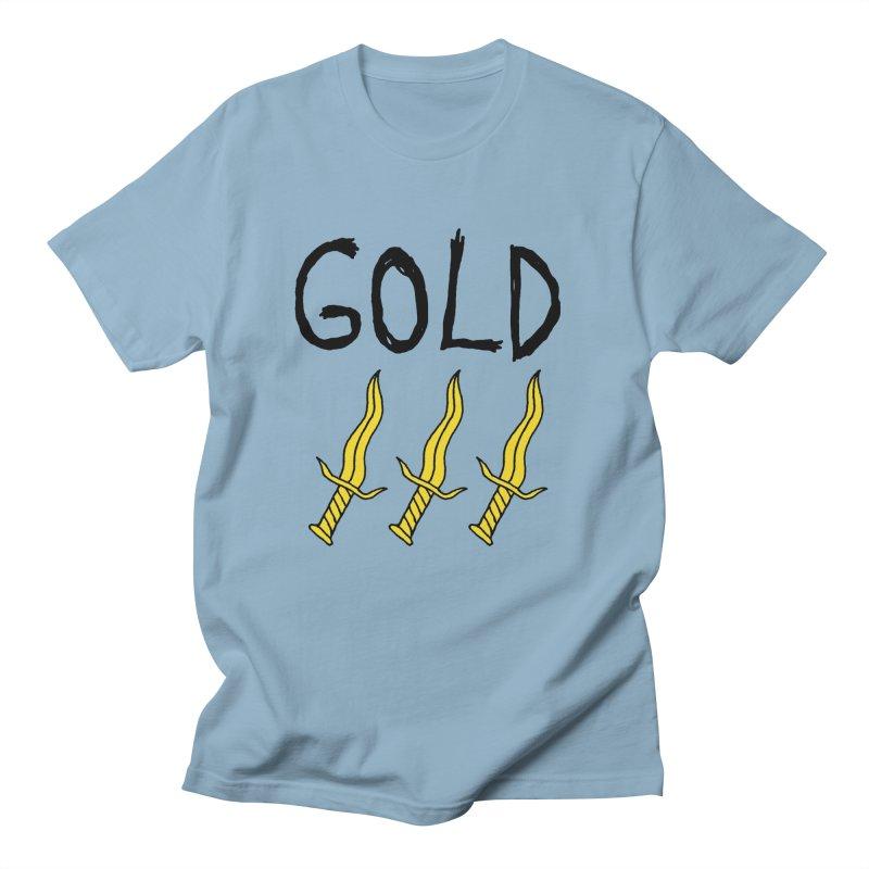 Gold Daggers Men's T-shirt by Chuck McCarthy's Artist Shop