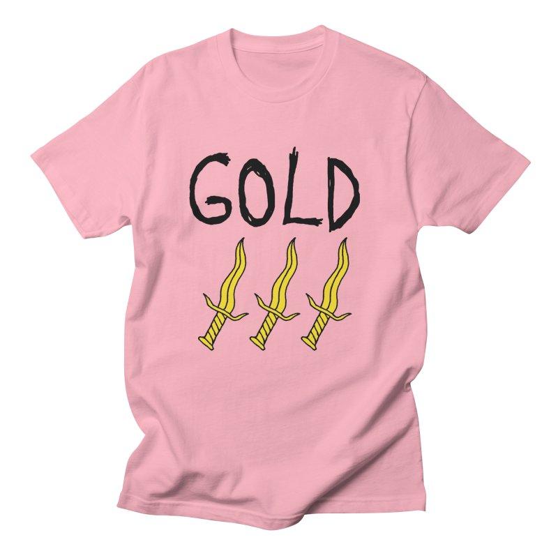 Gold Daggers Women's Unisex T-Shirt by Chuck McCarthy's Artist Shop