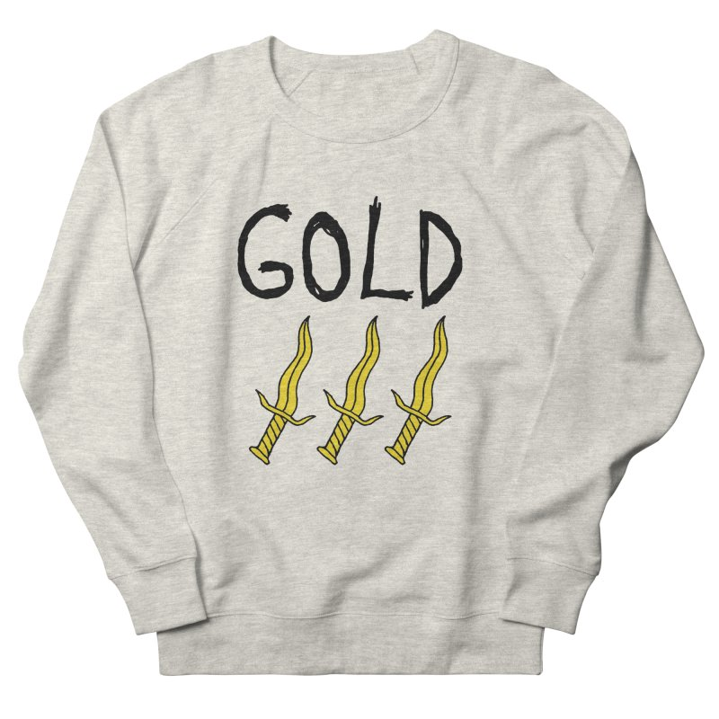 Gold Daggers Women's French Terry Sweatshirt by Chuck McCarthy's Artist Shop