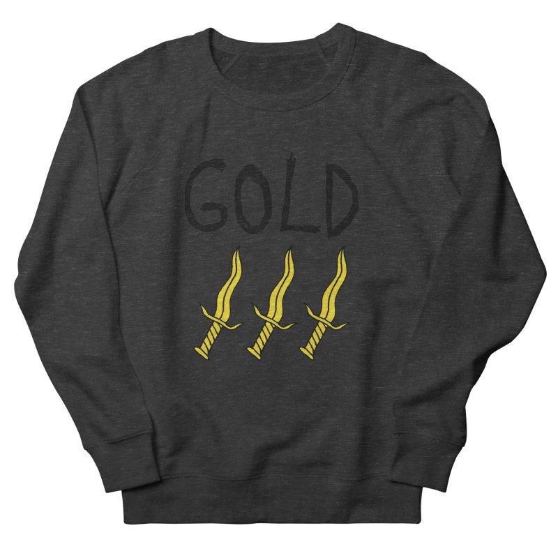 Gold Daggers Men's Sweatshirt by Chuck McCarthy's Artist Shop