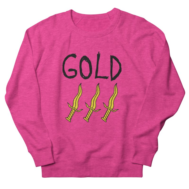 Gold Daggers Men's French Terry Sweatshirt by Chuck McCarthy's Artist Shop
