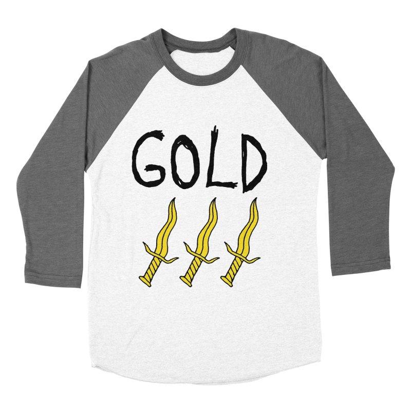 Gold Daggers Men's Baseball Triblend T-Shirt by Chuck McCarthy's Artist Shop