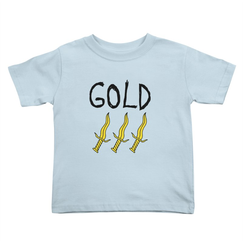 Gold Daggers Kids Toddler T-Shirt by Chuck McCarthy's Artist Shop