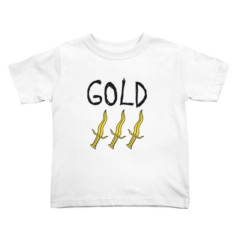 Gold Daggers Kids Toddler T-Shirt by Chuck McCarthy's Artist Shop