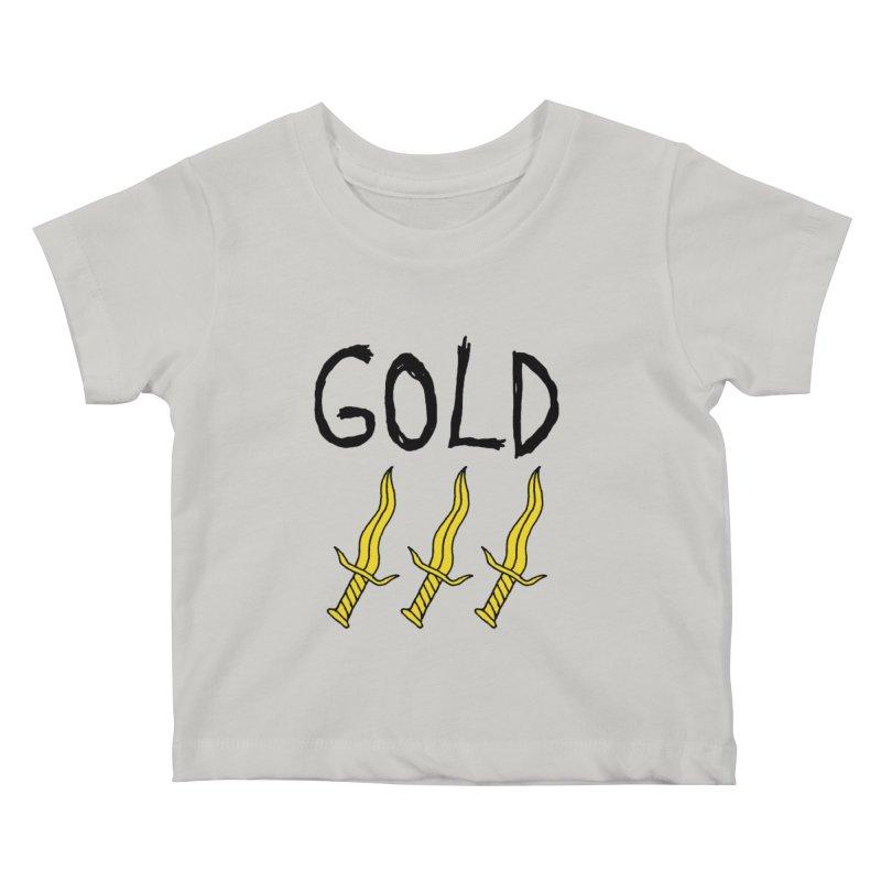 Gold Daggers Kids Baby T-Shirt by Chuck McCarthy's Artist Shop
