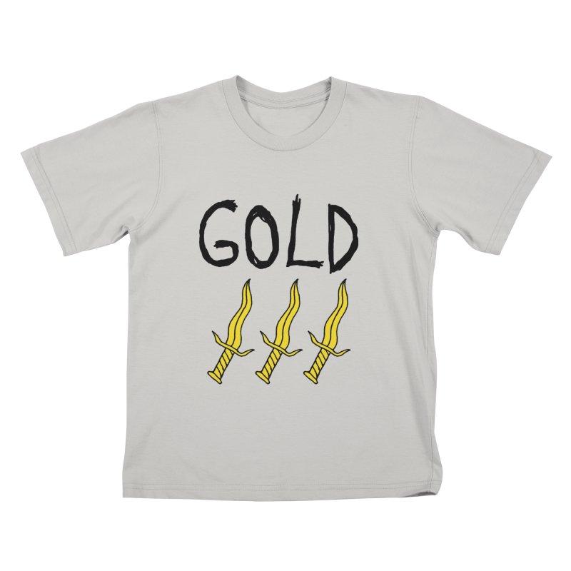 Gold Daggers Kids T-shirt by Chuck McCarthy's Artist Shop