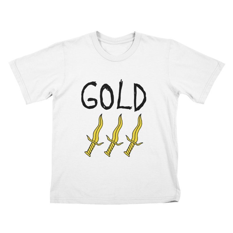 Gold Daggers Kids T-Shirt by Chuck McCarthy's Artist Shop