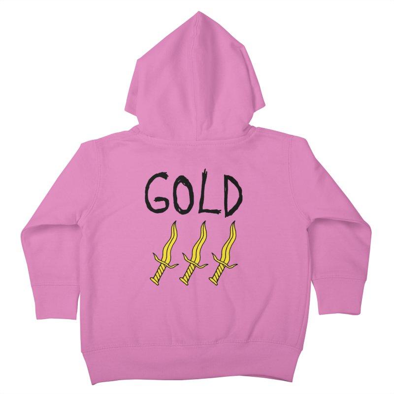 Gold Daggers Kids Toddler Zip-Up Hoody by Chuck McCarthy's Artist Shop