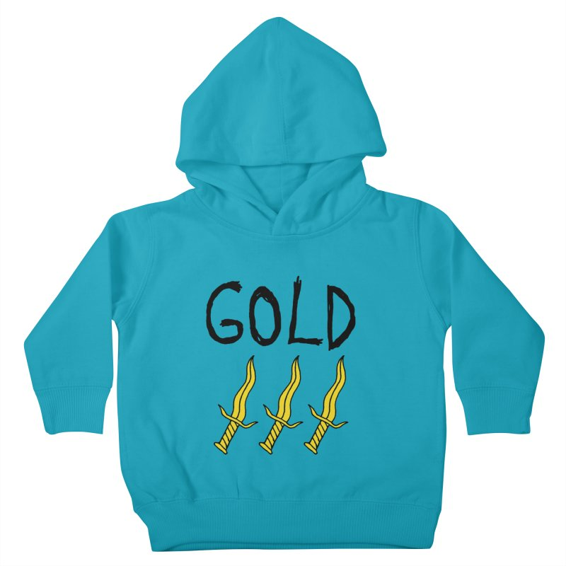 Gold Daggers Kids Toddler Pullover Hoody by Chuck McCarthy's Artist Shop