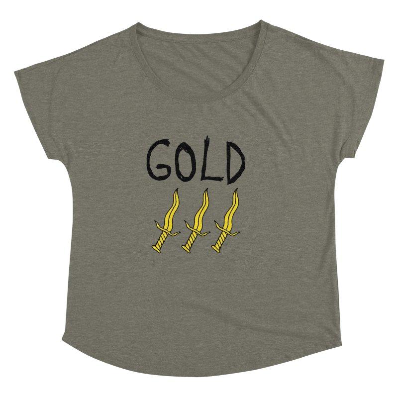 Gold Daggers Women's Dolman by Chuck McCarthy's Artist Shop