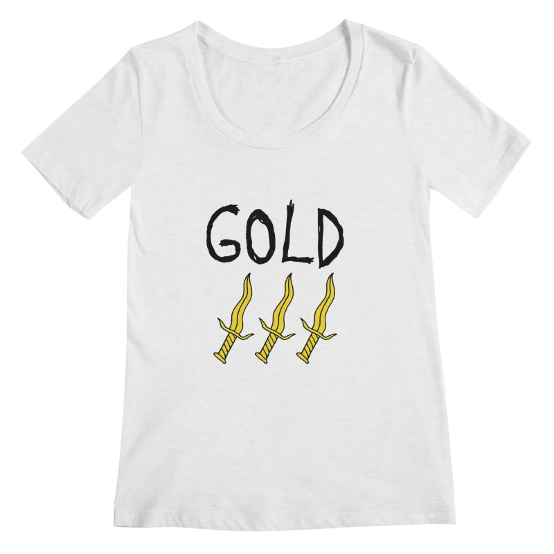 Gold Daggers Women's Regular Scoop Neck by Chuck McCarthy's Artist Shop