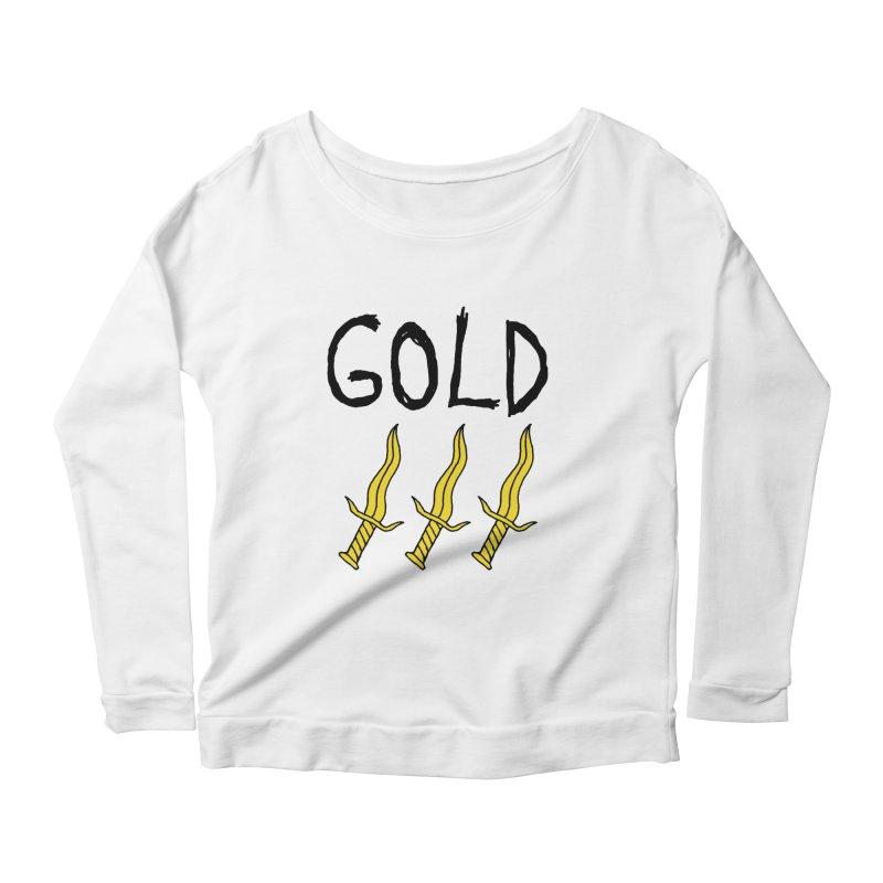 Gold Daggers Women's Scoop Neck Longsleeve T-Shirt by Chuck McCarthy's Artist Shop