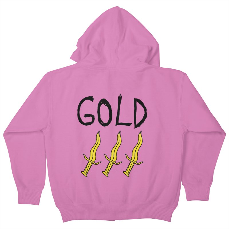 Gold Daggers Kids Zip-Up Hoody by Chuck McCarthy's Artist Shop